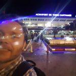 Jag precis utanför Tunis airport.